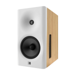 white baffle, natural cabinet